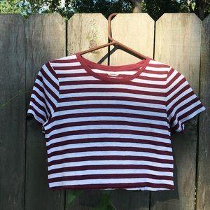 Striped Crop Top T-Shirt